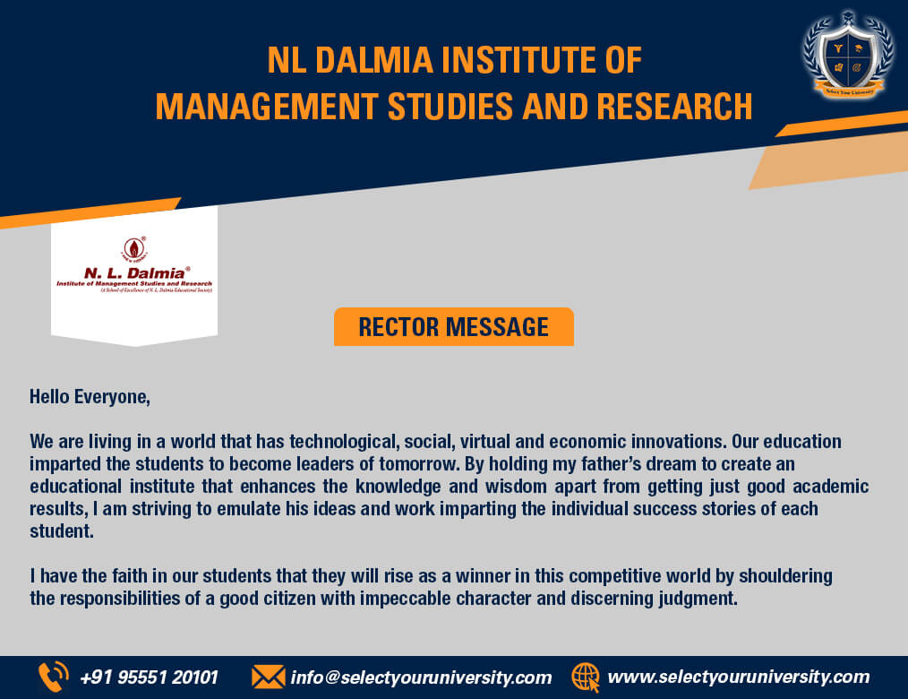rectors-message-of-nl-dalmia-institute-of-management-studies-and-research